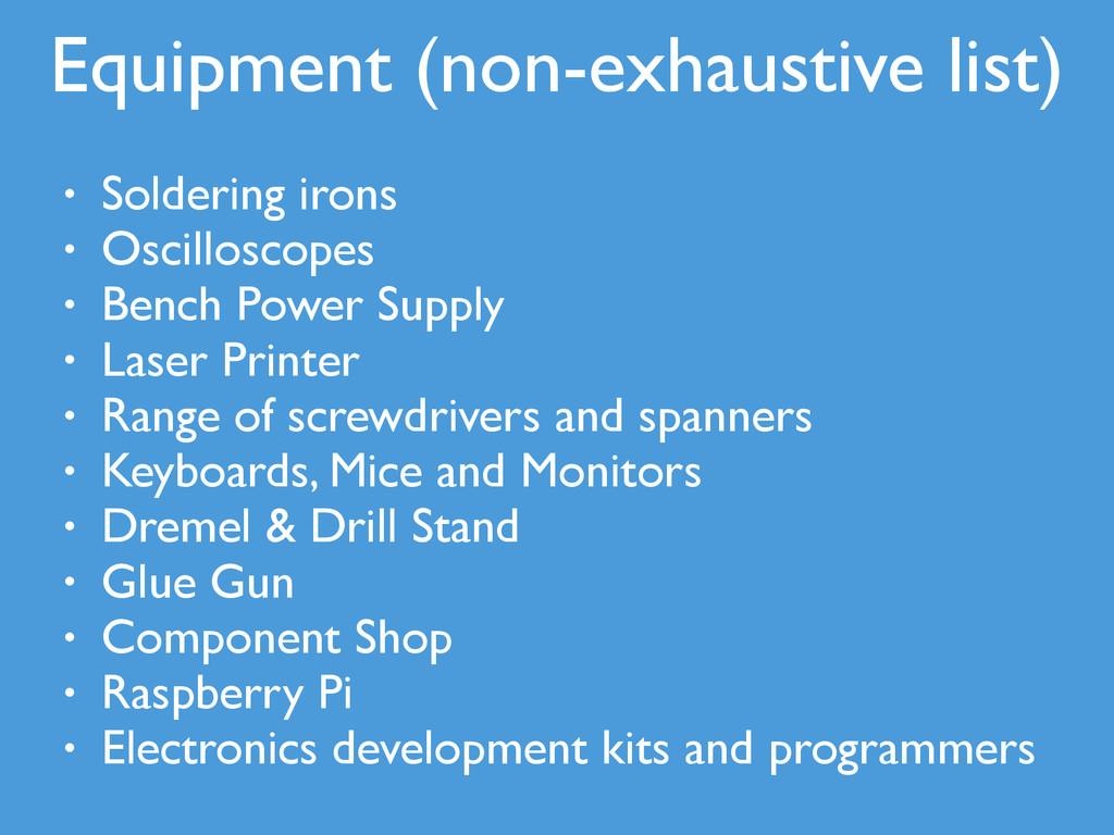 • Soldering irons • Oscilloscopes • Bench Power...
