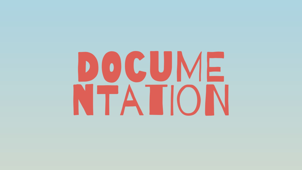 DOcuME nTatIoN