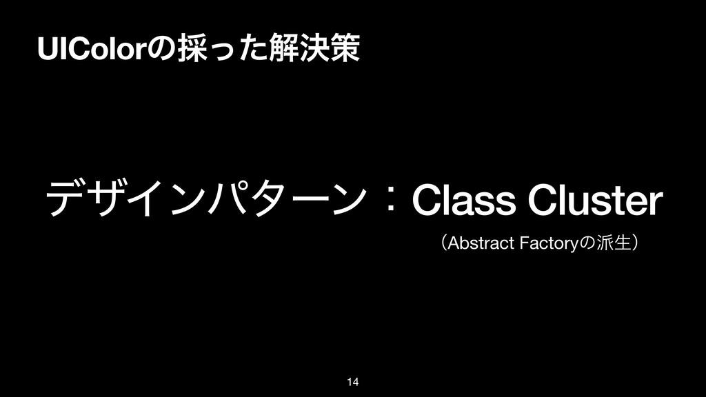 UIColorͷ࠾ͬͨղܾࡦ σβΠϯύλʔϯɿClass Cluster ʢAbstract...