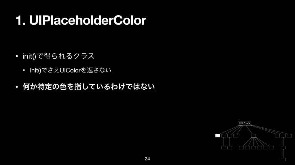 1. UIPlaceholderColor • init()ͰಘΒΕΔΫϥε  • init(...