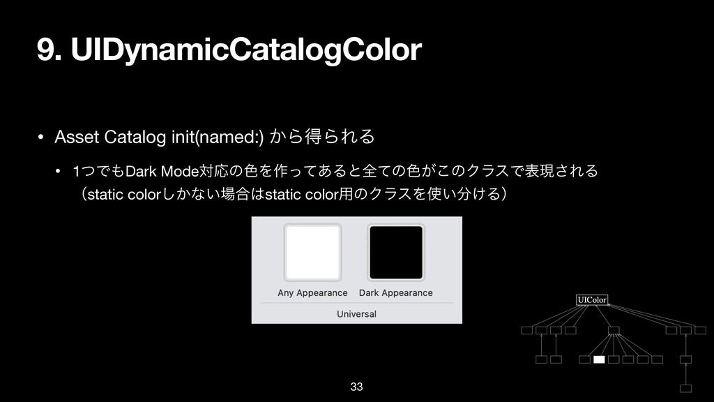 9. UIDynamicCatalogColor • Asset Catalog init(n...