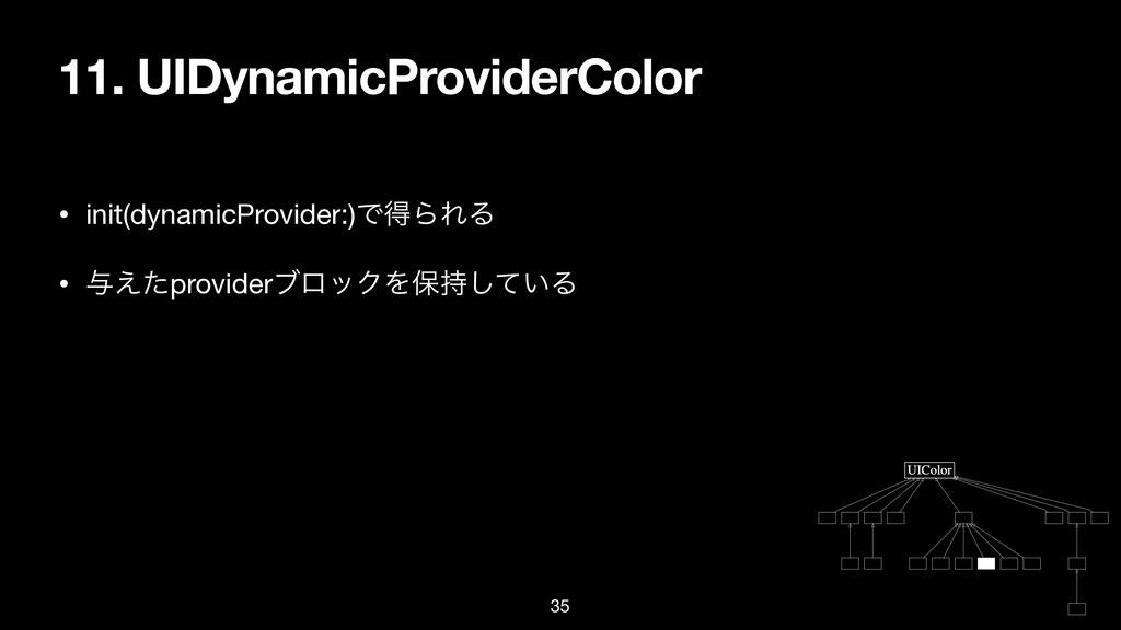 11. UIDynamicProviderColor • init(dynamicProvid...