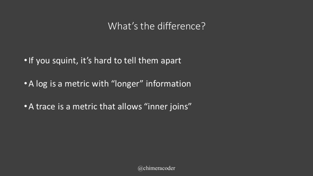 What's the difference? •If you squint, it's har...