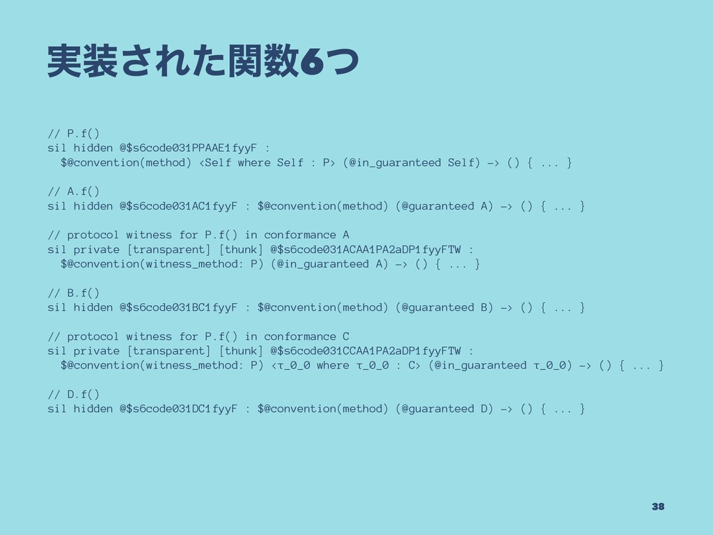 ࣮͞Εͨؔ6ͭ // P.f() sil hidden @$s6code031PPAAE1...