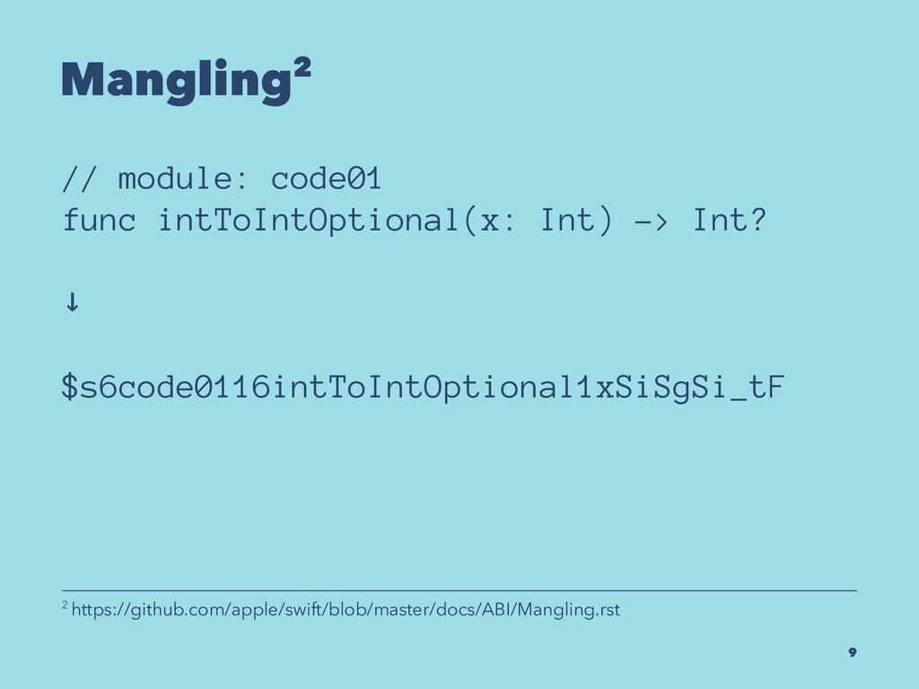 Mangling2 // module: code01 func intToIntOption...