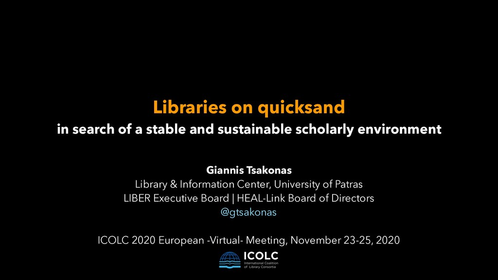 Libraries on quicksand   in search of a stable ...
