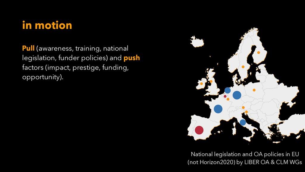 Pull (awareness, training, national legislation...