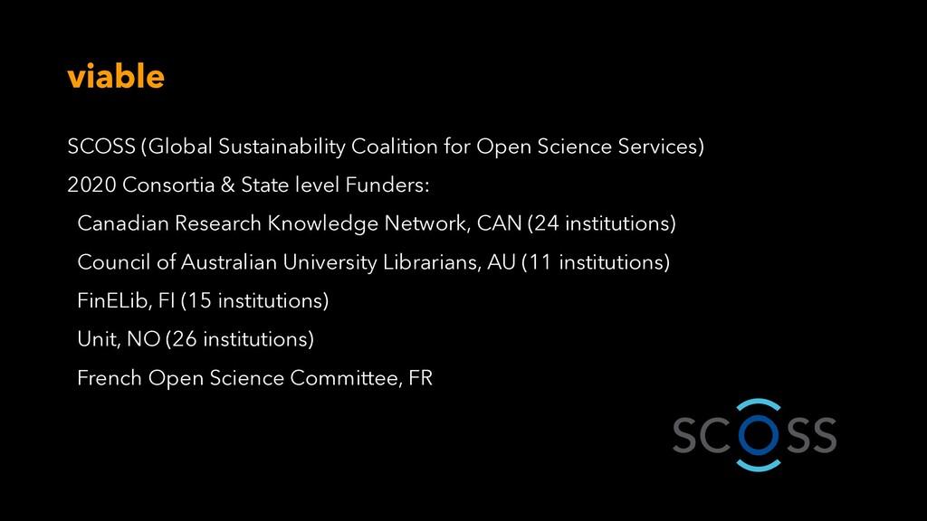 viable SCOSS (Global Sustainability Coalition f...