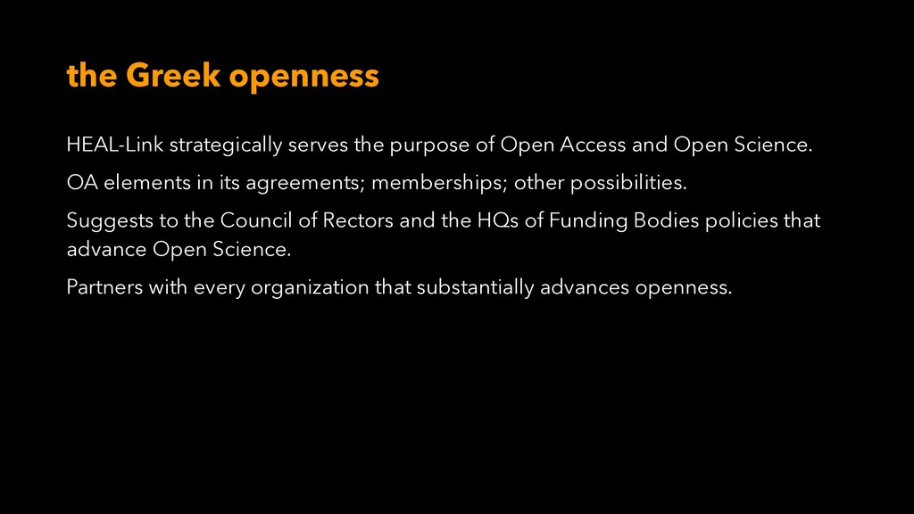 the Greek openness HEAL-Link strategically serv...