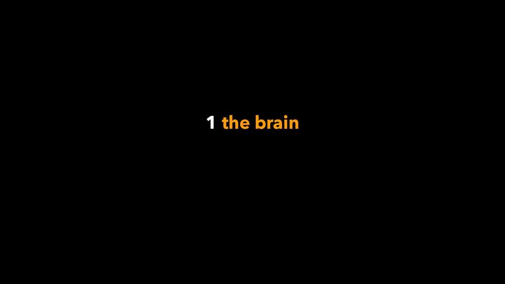 1 the brain