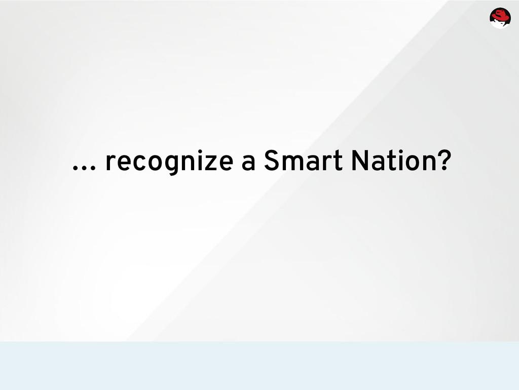 … recognize a Smart Nation?