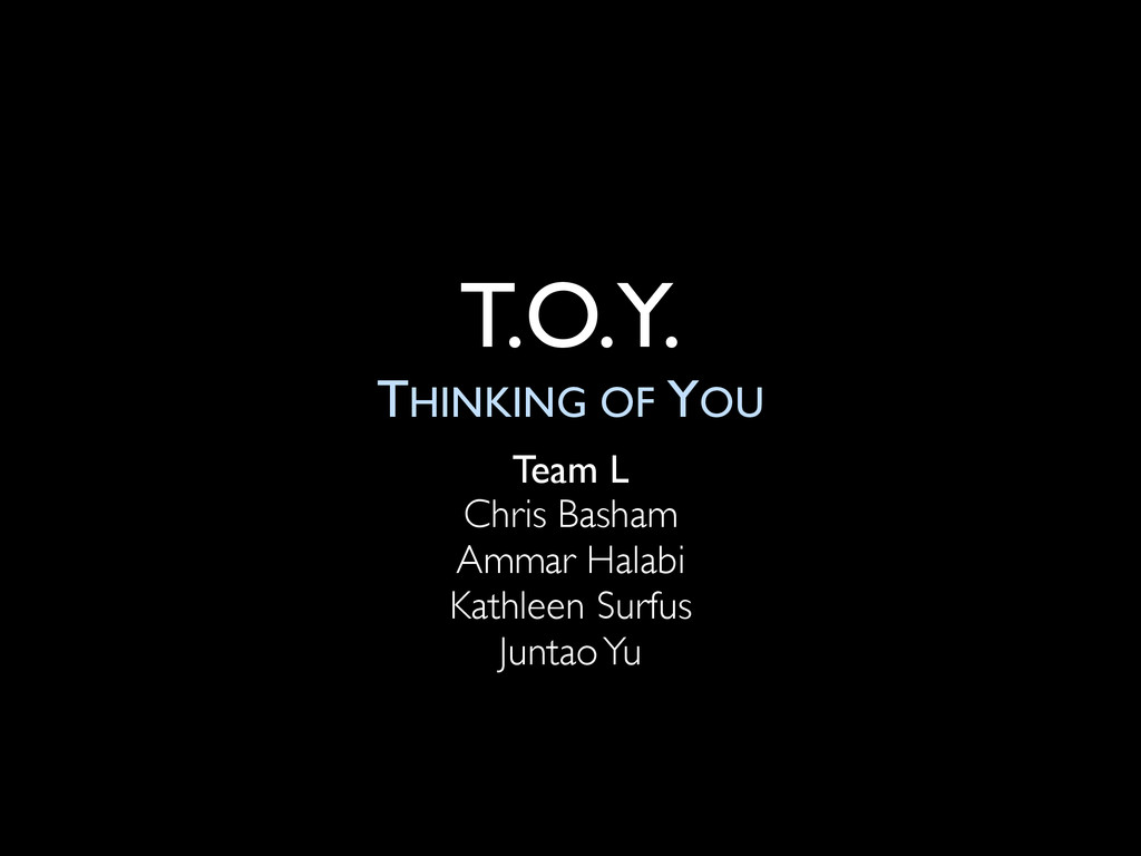 T.O.Y. THINKING OF YOU Team L Chris Basham Amma...