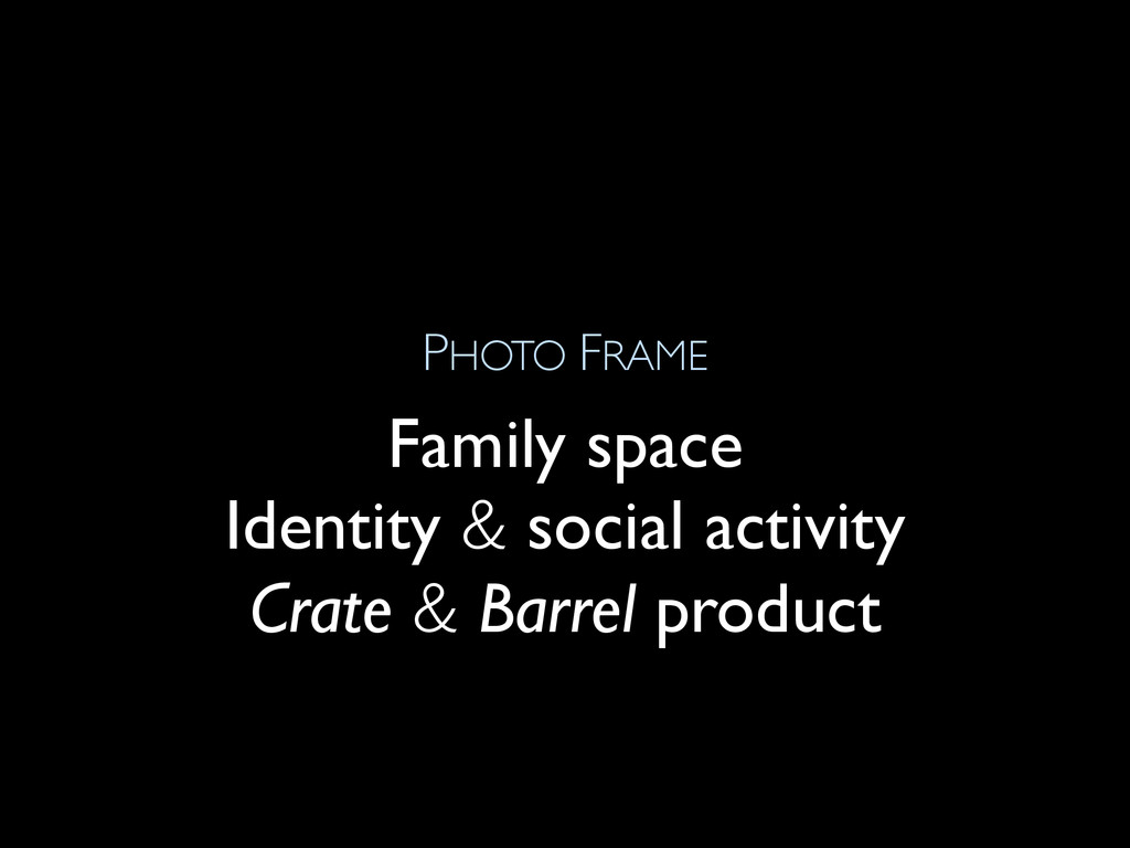 PHOTO FRAME Family space Identity & social acti...