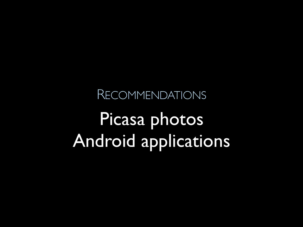 RECOMMENDATIONS Picasa photos Android applicati...