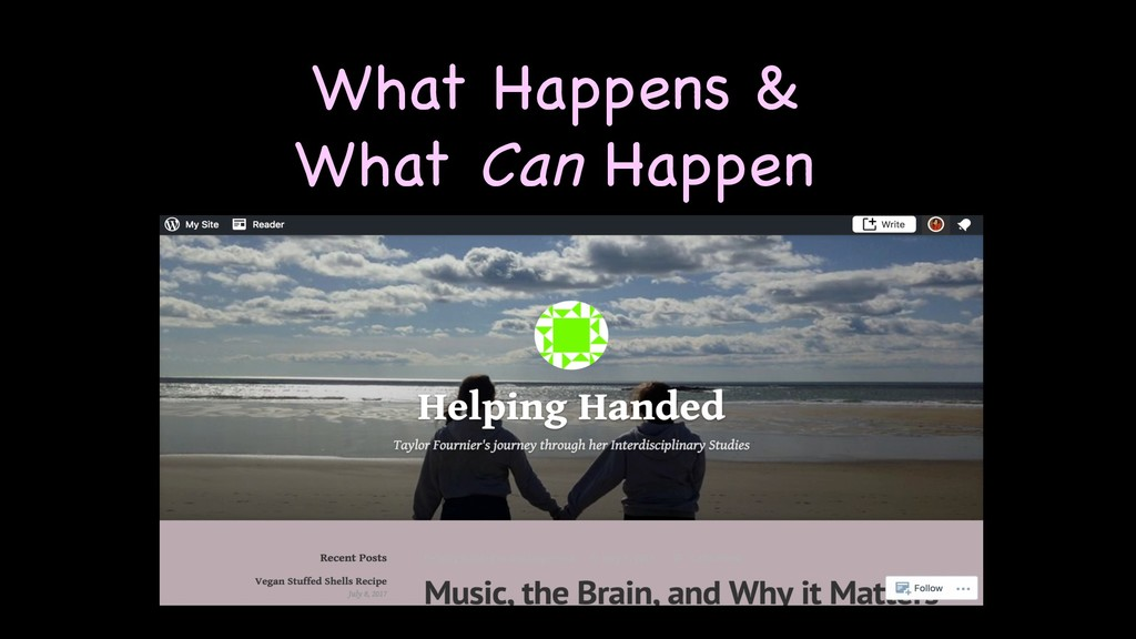 What Happens & What Can Happen