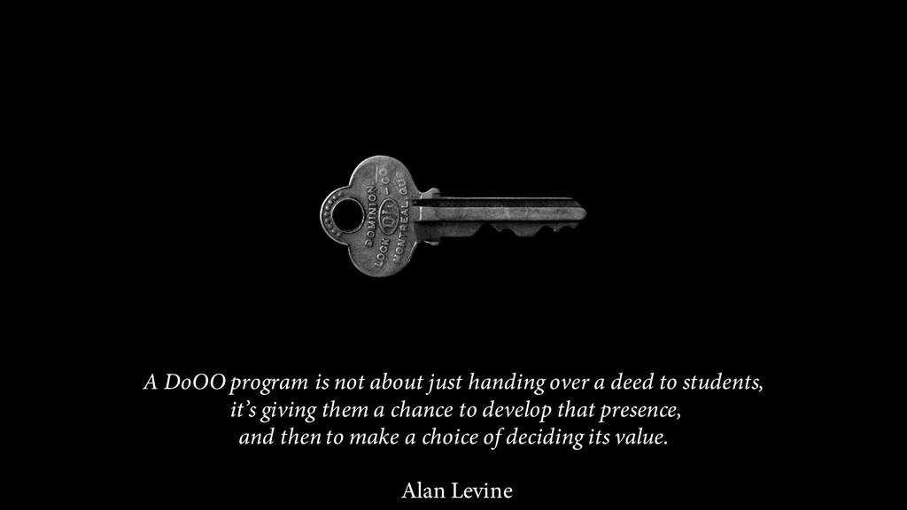 A DoOO program is not about just handing over a...