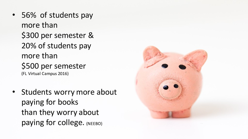 • 56% of students pay more than $300 per semest...