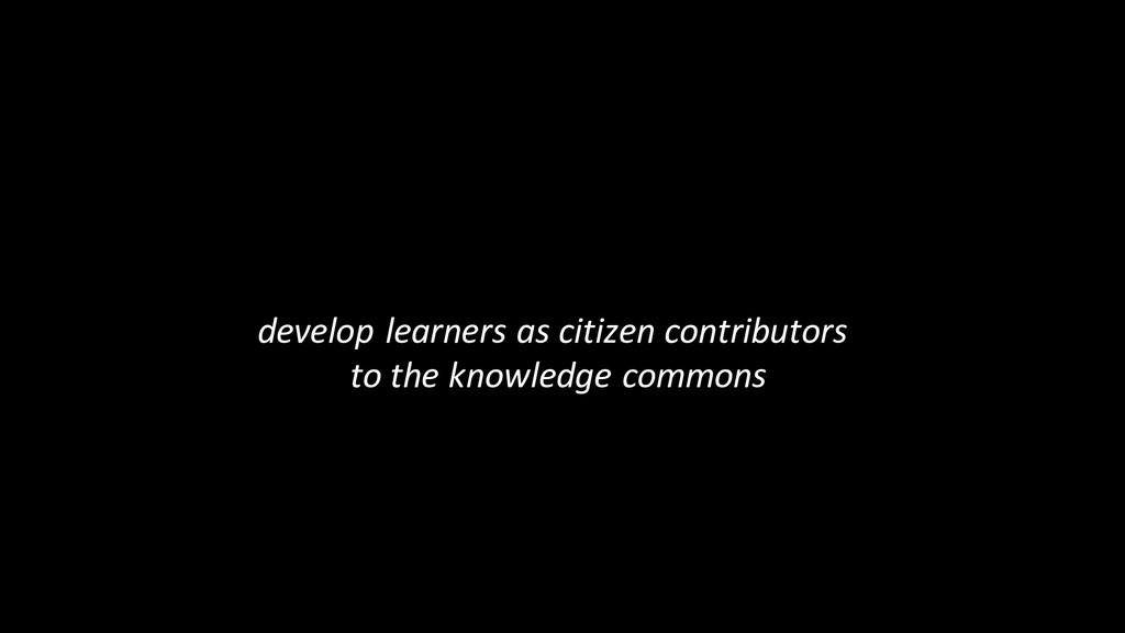develop learners as citizen contributors to the...