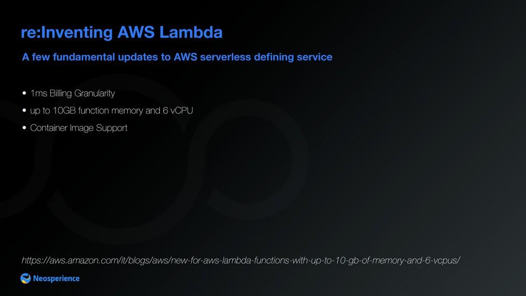 A few fundamental updates to AWS serverless de ...