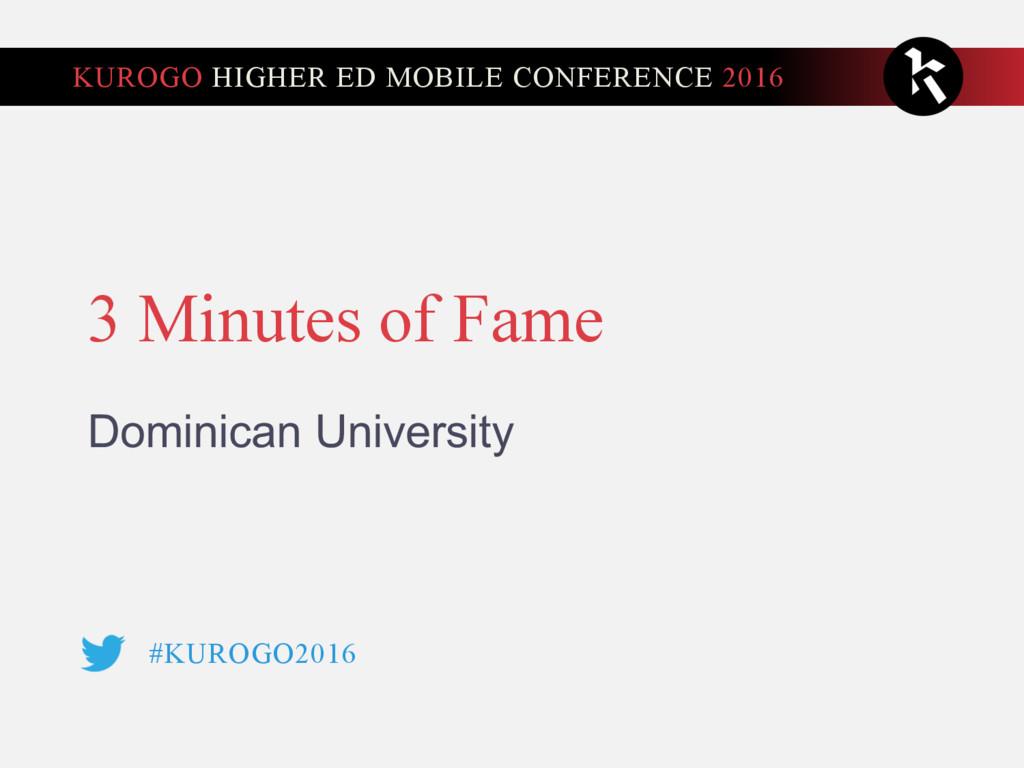 #KUROGO2016 KUROGO HIGHER ED MOBILE CONFERENCE ...