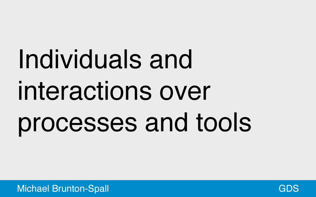 Individuals and interactions over processes and...