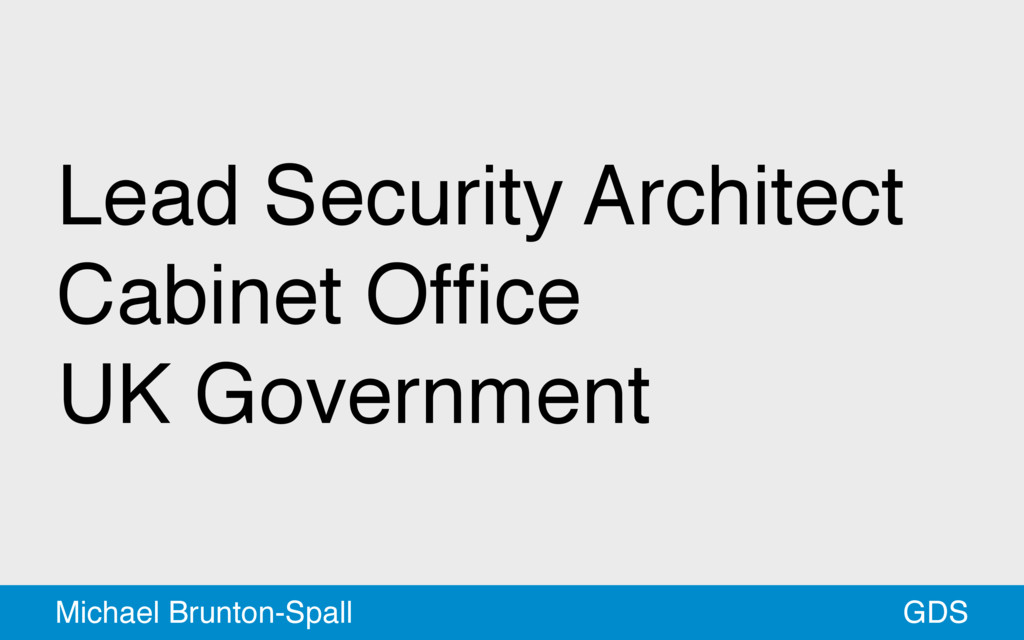 Lead Security Architect Cabinet Office UK Govern...