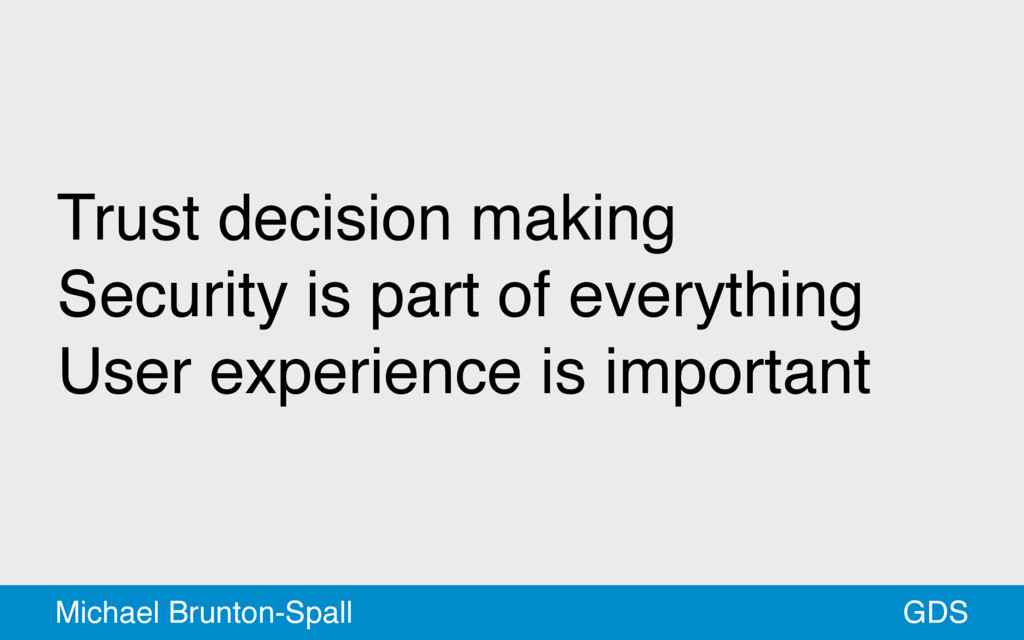 Trust decision making