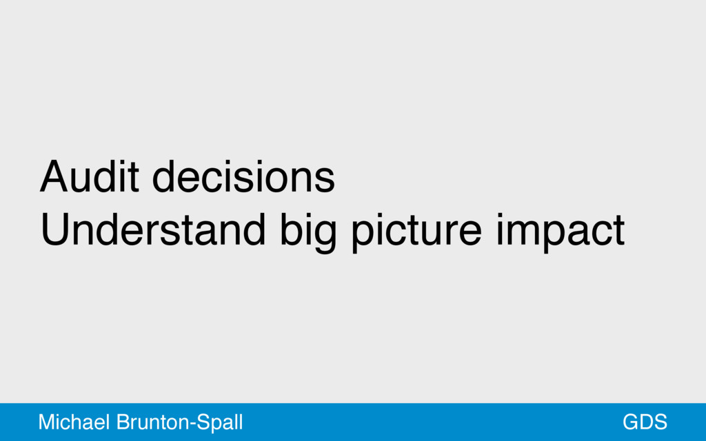 Audit decisions