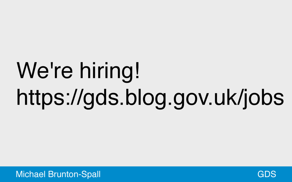 We're hiring!