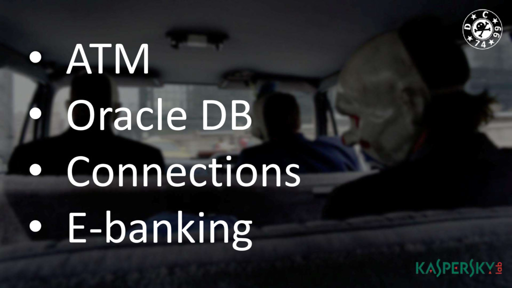 • ATM • Oracle DB • Connections • E-banking