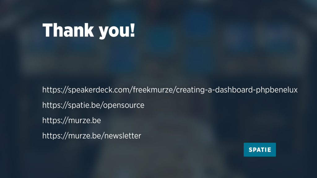 Thank you! https://speakerdeck.com/freekmurze/c...