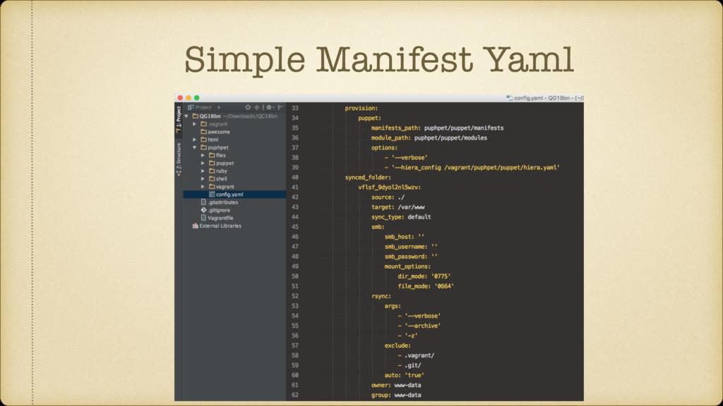 Simple Manifest Yaml