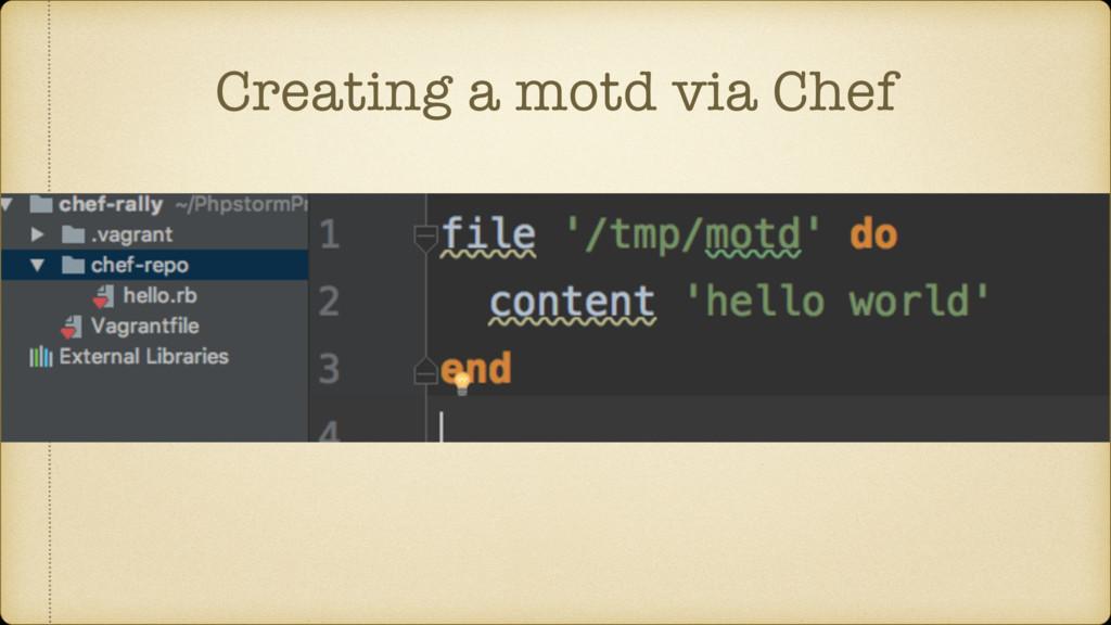 Creating a motd via Chef