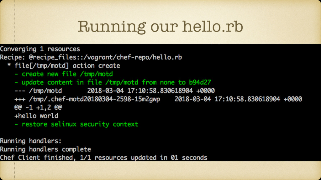 Running our hello.rb