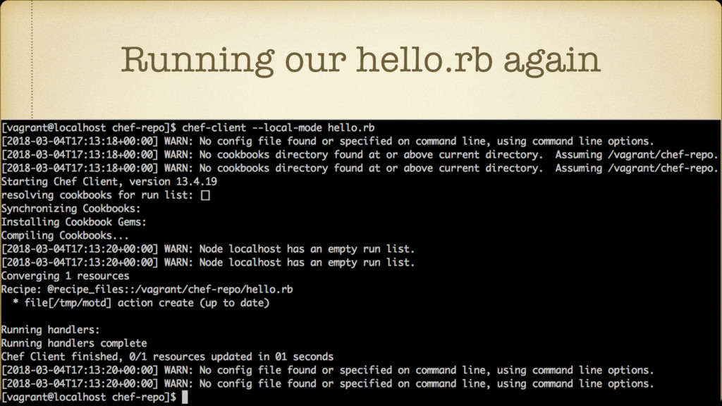 Running our hello.rb again