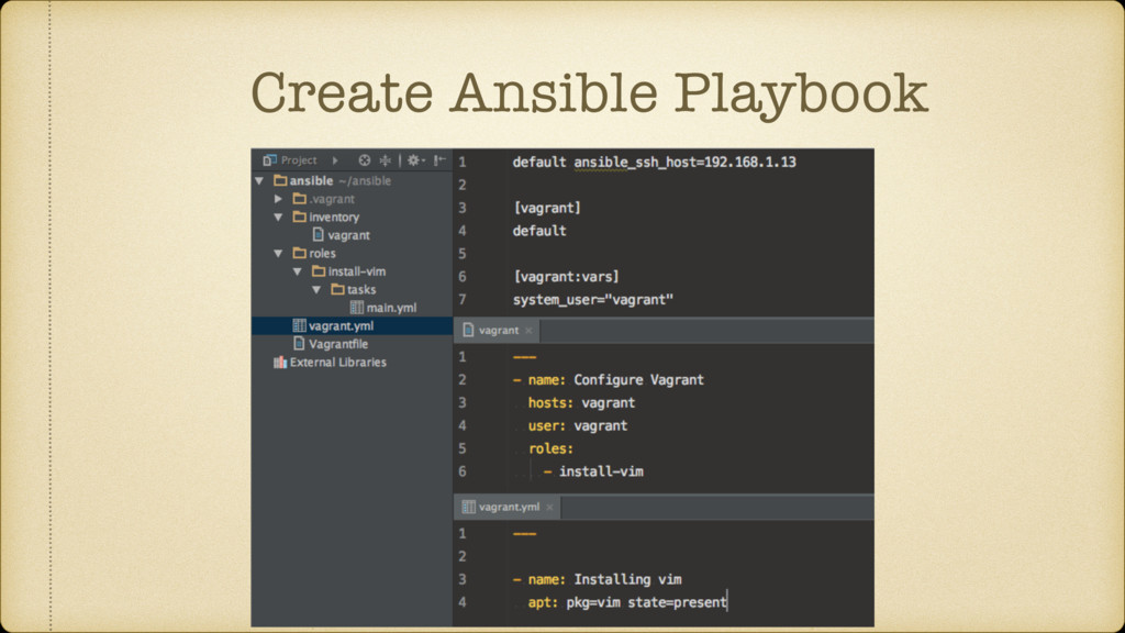 Create Ansible Playbook