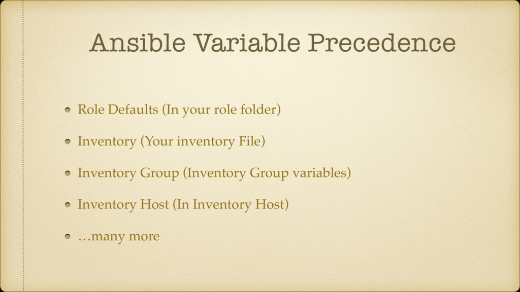 Ansible Variable Precedence Role Defaults (In y...