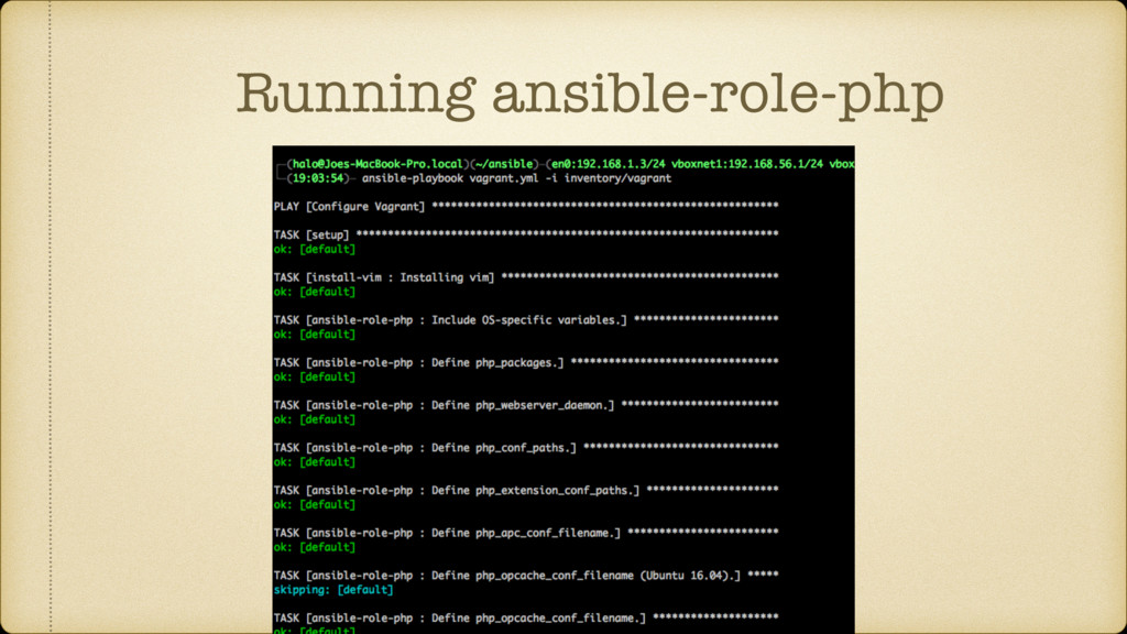 Running ansible-role-php