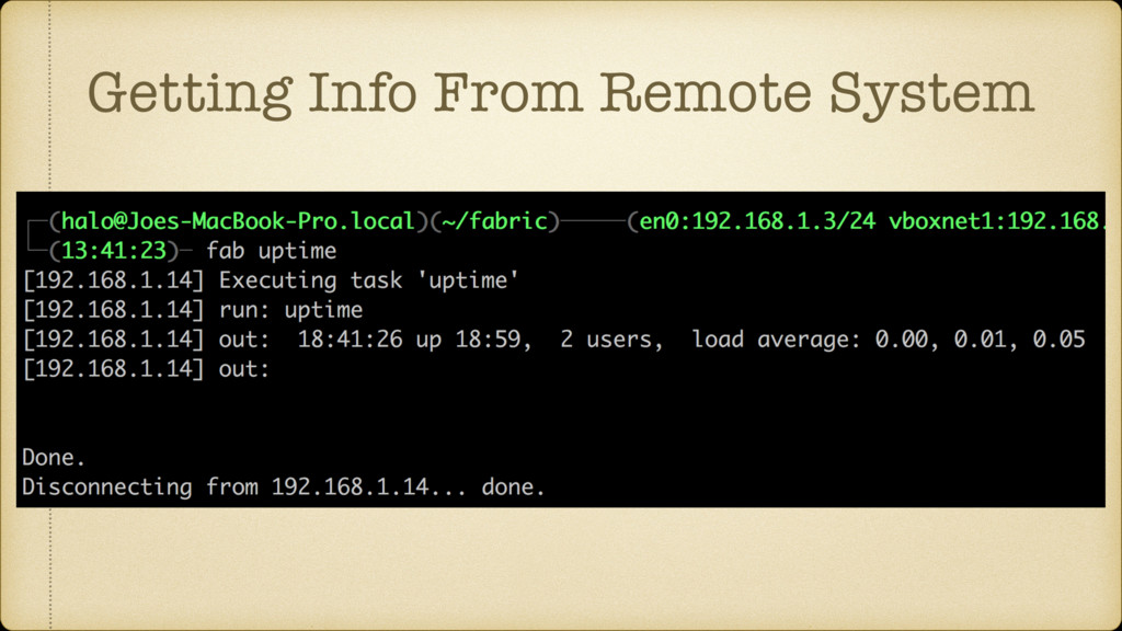 Getting Info From Remote System
