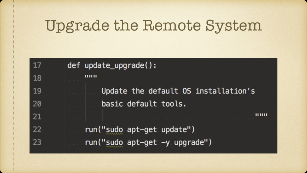 Upgrade the Remote System