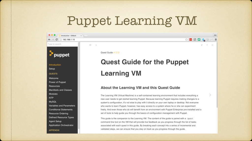 Puppet Learning VM