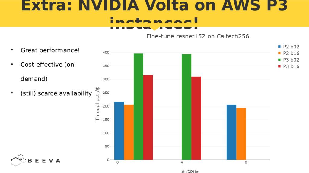 Extra: NVIDIA Volta on AWS P3 instances! • Grea...