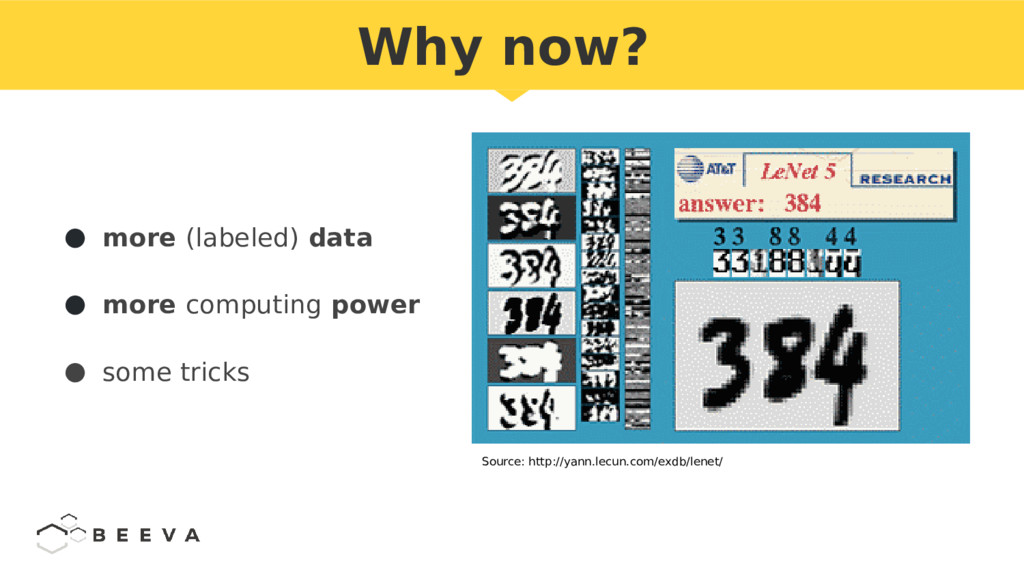 ● more (labeled) data ● more computing power ● ...