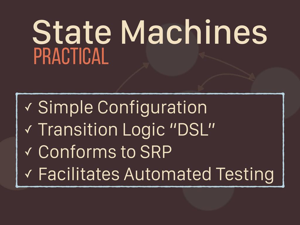 State Machines ✓ Simple Configuration ✓ Transit...