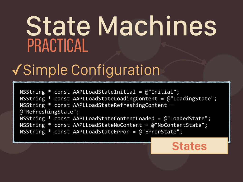 State Machines NSString * const AAPLLoadStateIn...