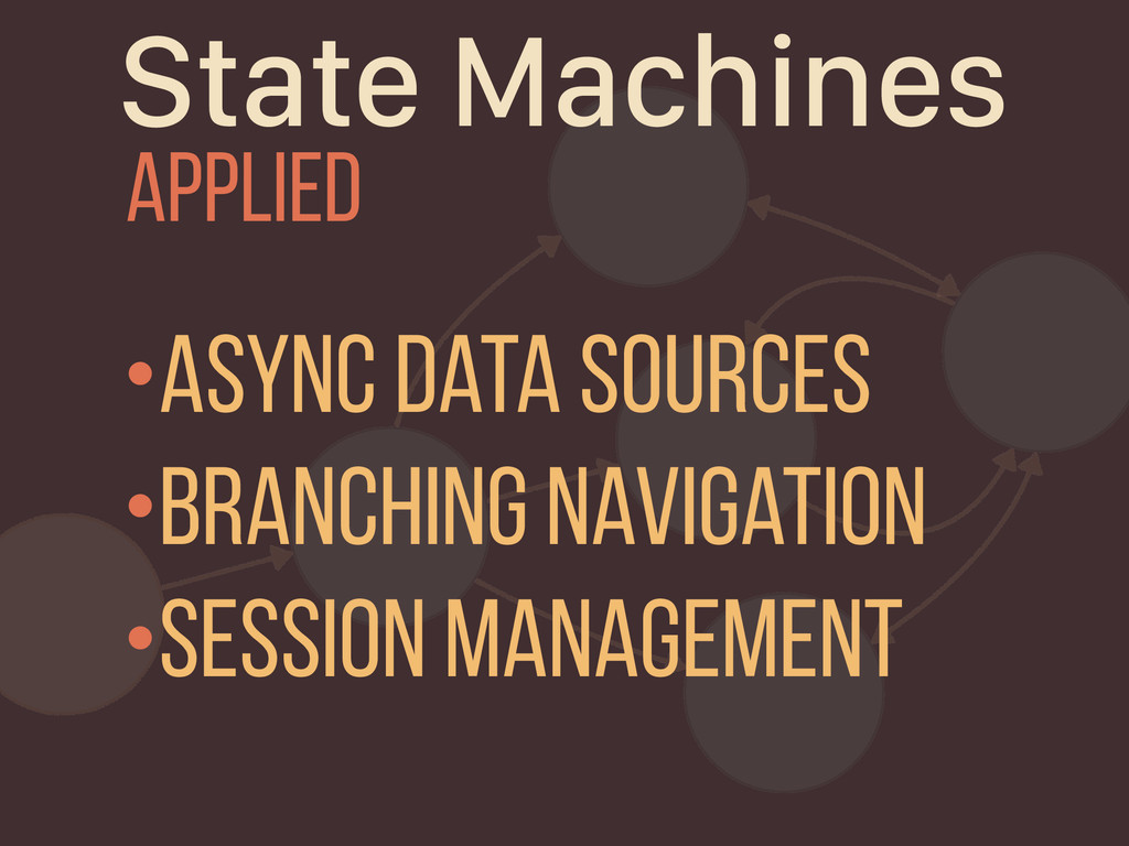 State Machines Applied •async Data Sources •bra...