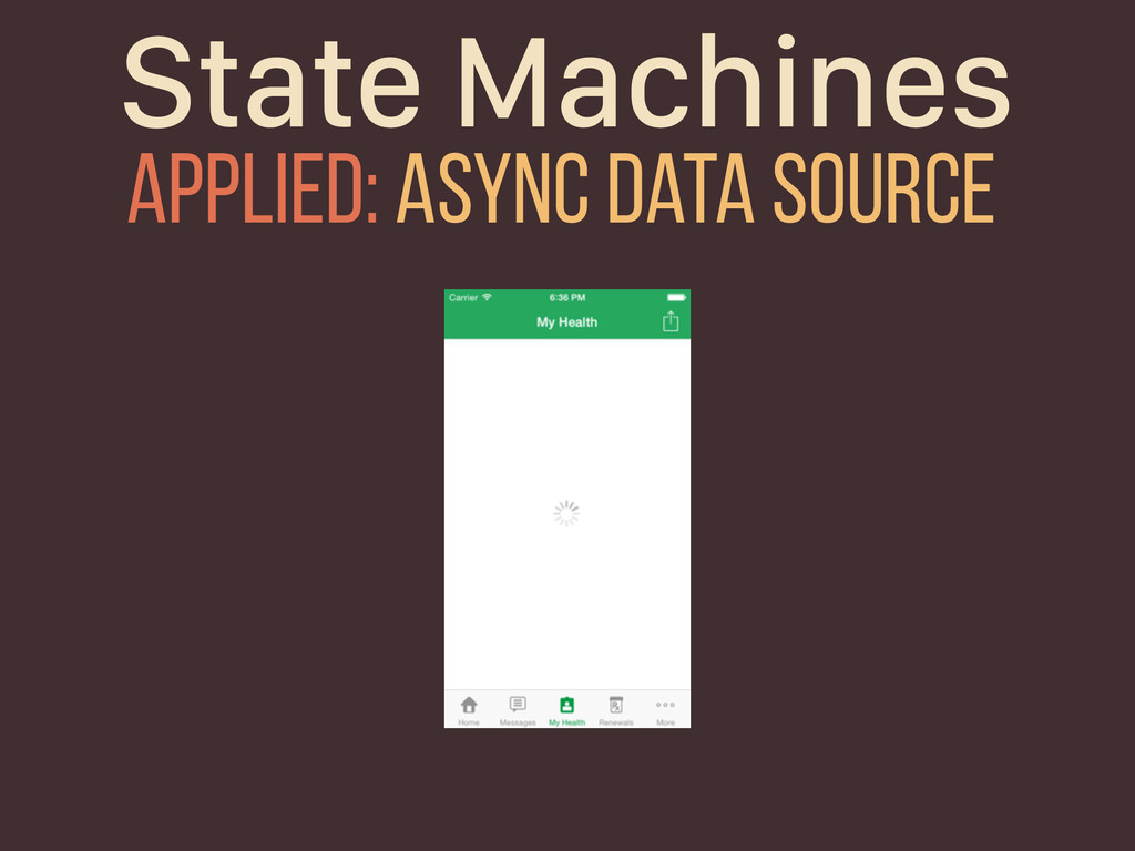 State Machines Applied: Async Data Source