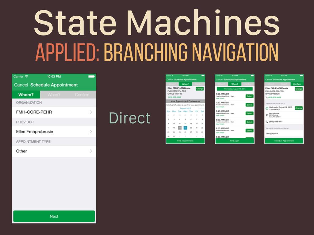 State Machines Applied: branching navigation Di...