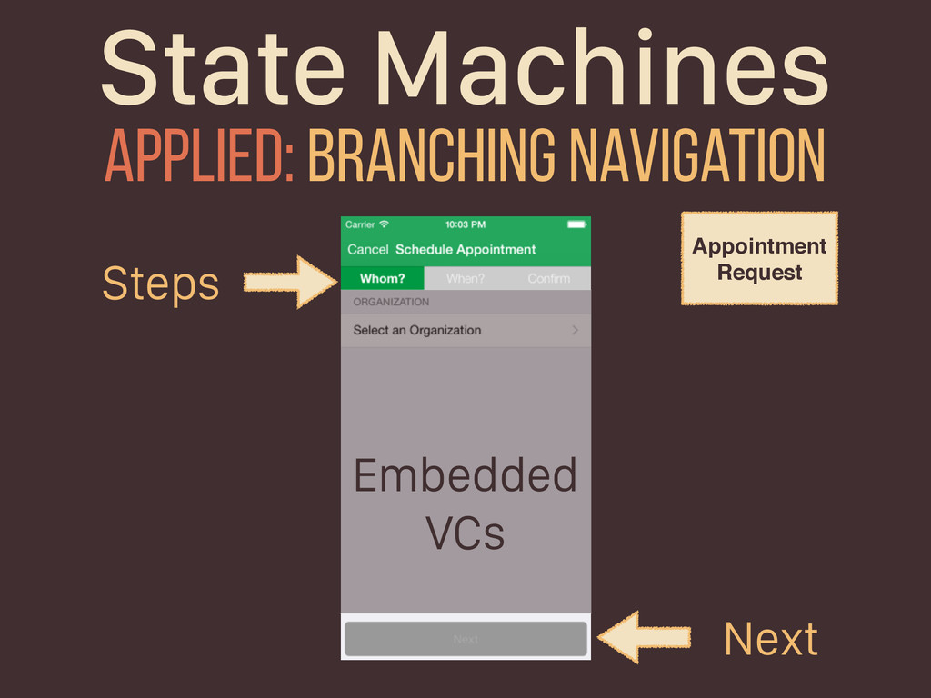State Machines Applied: branching navigation St...
