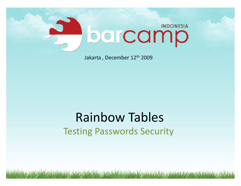 Rainbow Tables Testing Passwords Security Jakar...